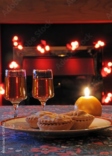 Mince pies and sherry © Arena Photo UK Wallpaper Mural