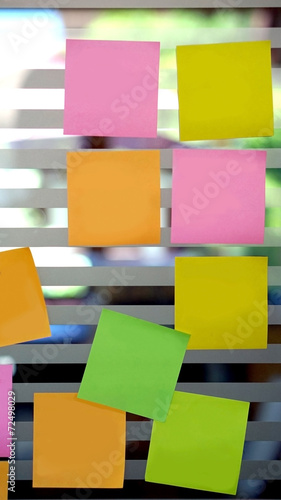 blank post it on the wall