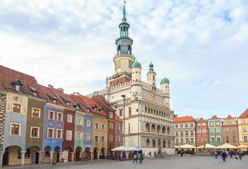 Town Hall and Tenement houses on Market Square in Poznań