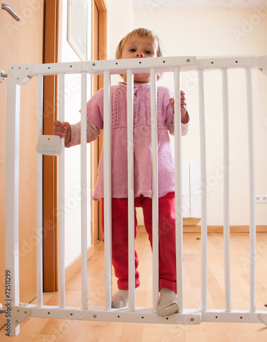 Baby And Stair Gate Buy This Stock Photo And Explore Similar