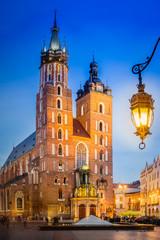 Fototapeta Kraków Krakau Rynek Glowny - Marienkirche