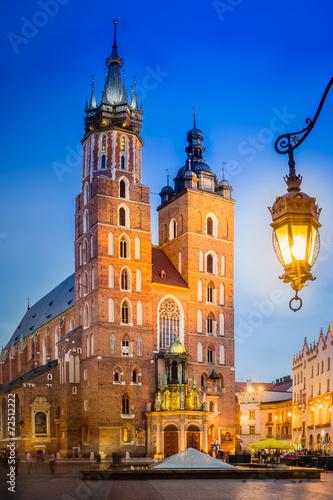 Photo  Krakau Rynek Glowny - Marienkirche