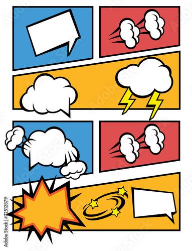 Fotobehang Pop Art Vector comic speech bubbles illustration