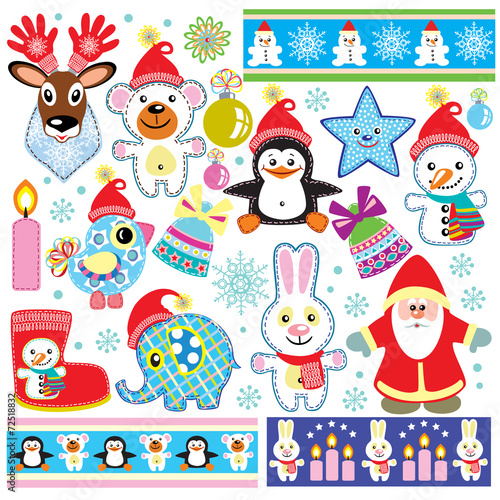 Poster Creatures christmas set