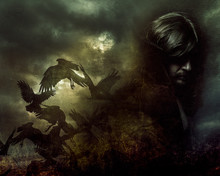 Paranormal, Man With Long Hair And Black Coat
