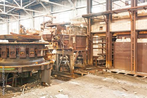 Staande foto Industrial geb. A closeup of an industrial grunge scene