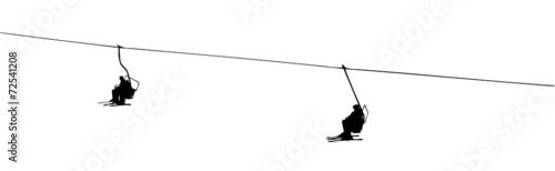 Photo  silhouette of a ski lift