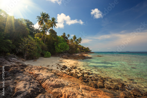 Beautiful beach view in Perhentian Island, Malaysia Canvas Print