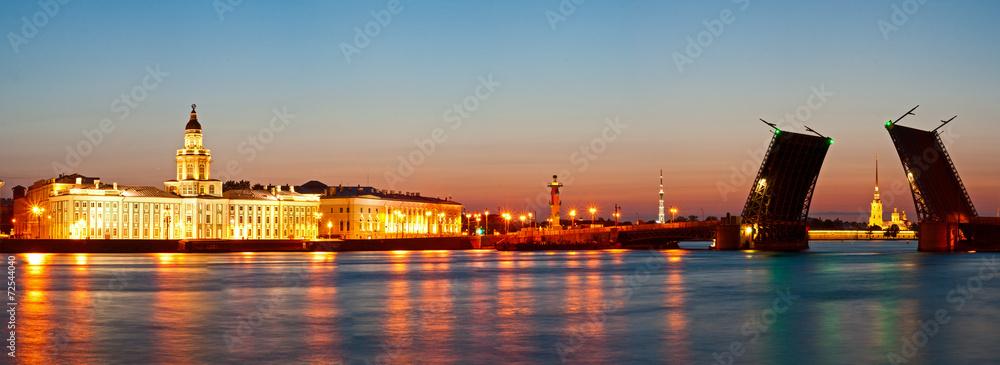 Fototapety, obrazy: White night in St.-Petersburg