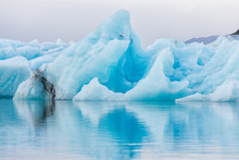 Detail View Of Iceberg In Ice ...
