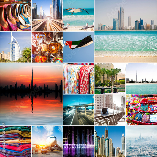 фотография  Collage of photos from Dubai