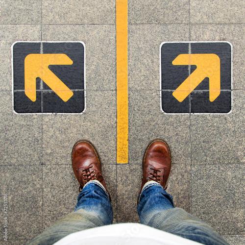 Fotografía  confusion  , direction , arrow