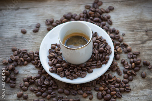 Poster Café en grains coffee