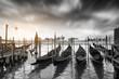 Przystań gondoli Wenecja,Włochy.