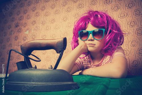 Poster  Vintage little girl