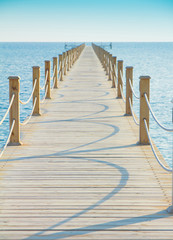 Fototapeta Pier in Heavenly Blue Place