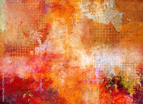Cuadros en Lienzo Malerei abstractamente opak lasierend