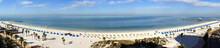 Wide Panoramic View Of Clearwater Beach Resort In Florida