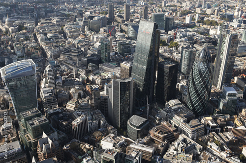 Deurstickers London london city skyline view from above