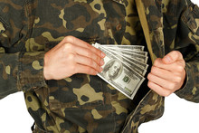 Man In Military Uniforms Pulls...