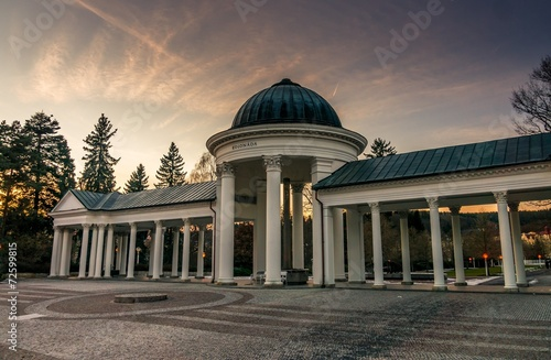 Rudolf pramen colonnade in Marianske Lazne in Czech republic Wallpaper Mural
