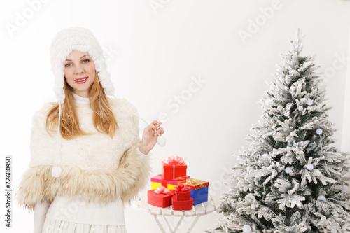 Láminas  クリスマス 白人女性