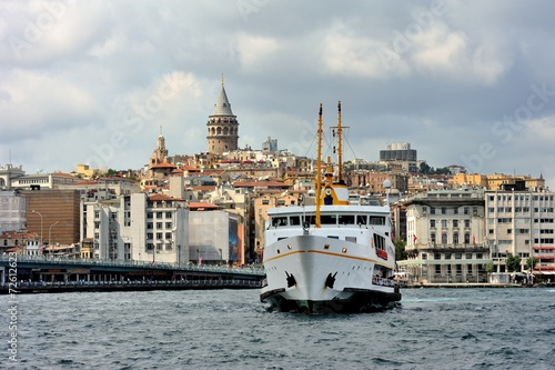 Classic ferryboat of Istanbul on the Golden Horn Poster
