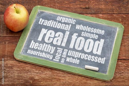 Fotografía  real food word cloud