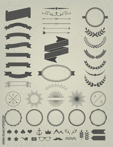 Fotografía  Retro Design Elements