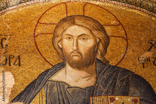 Foto op Plexiglas Wand Christ Pantocrator in Chora Church