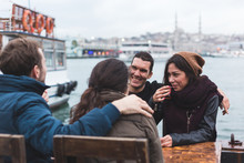 Group Of Turkish Friends Drink...