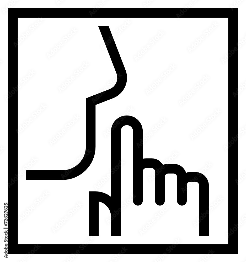 Fototapeta Keep silence icon