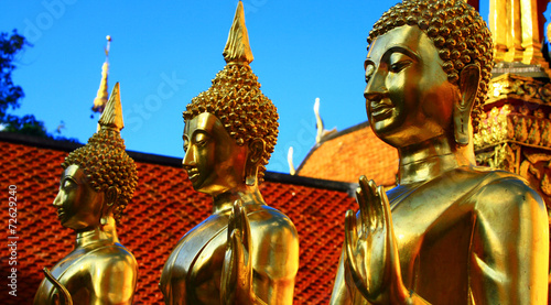 fototapeta na szkło Bouddha doré au Temple de DOI Sutep pl Thaïlande