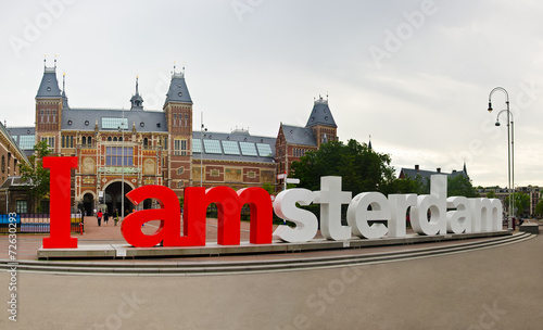 Spoed Foto op Canvas Amsterdam i amsterdam words