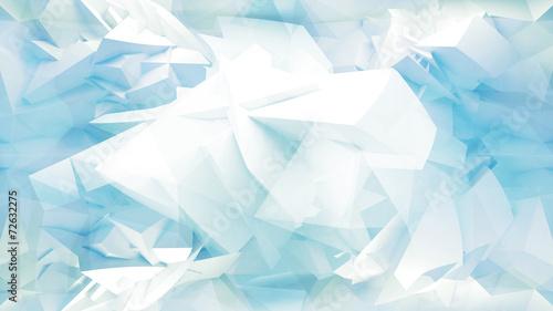 fototapeta na lodówkę Blue streszczenie 3d tło z siatki wielokąta chaosu