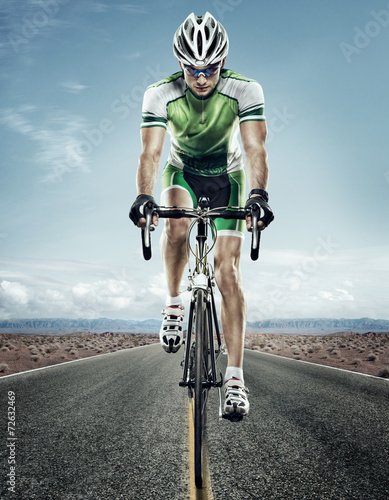 Aluminium Prints Cycling Sport. Road cyclist.