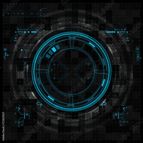 Fotografía  Futuristic graphic user interface