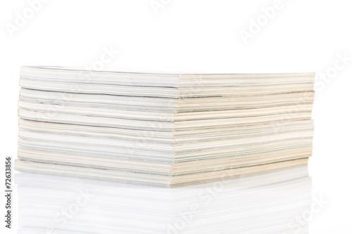 Printed kitchen splashbacks Newspapers Stack of magazines