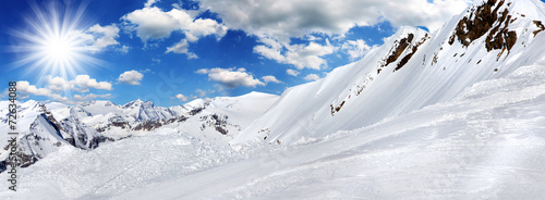 Skier in high mountains #72634088