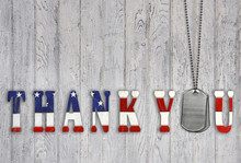 Military Dog Tag Thank You On ...
