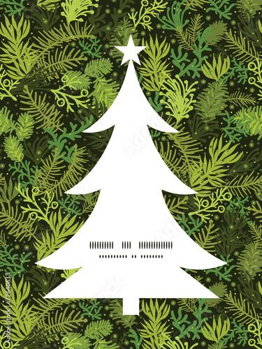 Fotografija  Vector evergreen christmas tree Christmas tree silhouette