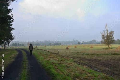 Foto op Aluminium Blauw Hunting