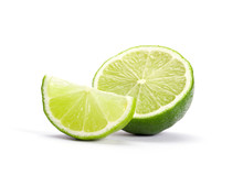Limes With Slices Isolated On ...