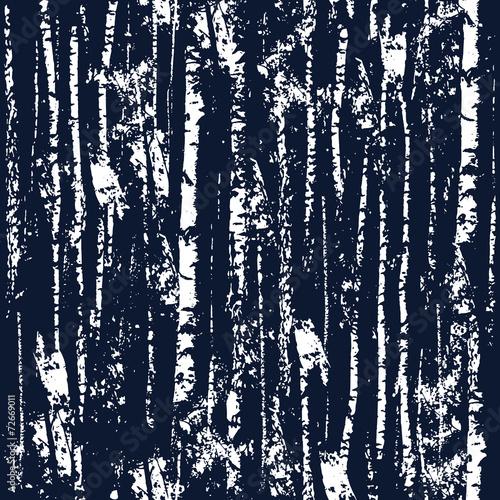 ciemny-las-biale-zarysy-drzew-na-granatowym-tle