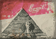 Pyramids In The Desert. Hand D...