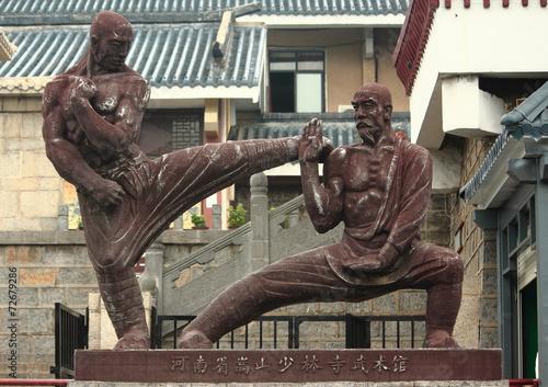 Fotografie, Obraz  statue of two fighters near Shaolin temple