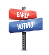 Early Voting Sign Illustration...