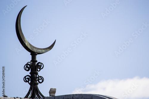 Fotografie, Obraz  Mezzaluna sul tetto di una moschea