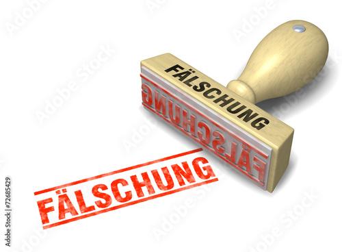 Fotografia, Obraz  Stempel: FÄLSCHUNG