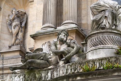 Cuadros en Lienzo Paris -  Fountain of the four seasons. France